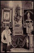 ZELDZAME ! ** ELINGHEN - ELINGEN ( Pepingen ) - PASTOOR EN RELIKWIE KAS SINT BENEDICTUS 1900-1912 ** - Geanimeerde - Pepingen