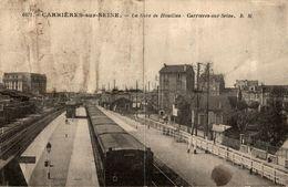 78 CARRIERES-SUR-SEINE LA GARE DE HOUILLES - Carrières-sur-Seine