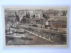 CPA GABY 27 BREST Le Pont National Ouvert Rues De Siam Et Louis-Pasteur - Brest