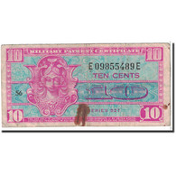 États-Unis, 10 Cents, 1954, KM:M30a, TB - Military Payment Certificates (1946-1973)