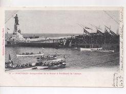 Cpa.Egypte.1904.Inauguration De La Statue à Ferdinand De Lesseps. - Port-Saïd