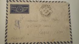 """Ancienne Enveloppe Timbrèe , Cachè """" Saigon - Cochinchine 1948 Par Avion - Lettres & Documents"""
