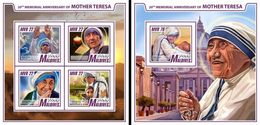 Maldives 2017, Mother Teresa, 4val In BF +BF IMPERFORATED - Mother Teresa