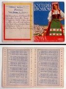 Calendario/calendarietto 1941 - XIX Lotteria Esposizione - ROMA - Calendari
