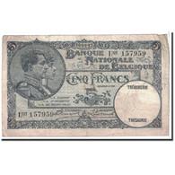Belgique, 5 Francs, 1927, KM:97b, 1927-02-10, TB - [ 2] 1831-... : Regno Del Belgio