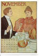 CPSM Signée MS- Calendrier édité En 1895 Aux USA - NOVEMBER - Illustrateurs & Photographes