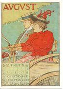 CPSM Signée MS- Calendrier édité En 1895 Aux USA - AUGUST - Illustrateurs & Photographes