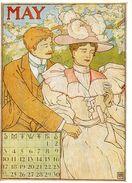 CPSM Signée MS- Calendrier édité En 1895 Aux USA - MAY - Illustrateurs & Photographes