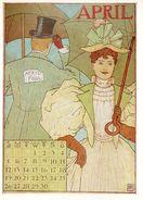 CPSM Signée MS- Calendrier édité En 1895 Aux USA - APRIL - Illustrateurs & Photographes
