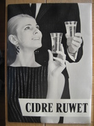 Carton Publicitaire Original  (années 50) CIDRE RUWET à THIMISTER-CLERMONT - Placas De Cartón