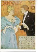CPSM Signée MS- Calendrier édité En 1895 Aux USA - JANUARY - Illustrateurs & Photographes
