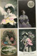 N°58450 - Lot 4 Cpa Très Belles Fantaisies - Femmes