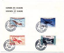 FRANCE - YT N° 30 à 33 - Cachet Conseil De L'Europe Strasbourg 1954 - Postmark Collection (Covers)