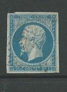 France 1853 Napoleon 20 Cents Blue On Blue-ish Good Used Die 1 - 1853-1860 Napoleone III