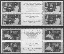1988 POLYNESIE FRANCAISE 297A-98A** Ecrivains, Tryptique Avec Vignette, Paire Se Tenant - Nuovi