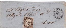 Brief Von Terranuova Nach Siena - Sardaigne