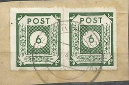 """Sowjetische Zone 43BI Paar """" 2 Briefmarken Aus Satz: Ziffernserie Ostsachsen, Schwarzgelbgrün """" Gestempelt Mi.:26,00 - Zone Soviétique"""