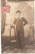 Carte Photo Militaire 1914 1918 - Marin - Matelot Quartier Maître Mécanicien Pétrolier Jules Henry - Bizerte Tunisie - War 1914-18