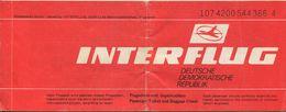 Interflug 1989 - Berlin Sofia Berlin - Europe