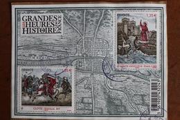 2012  -    GRANDES  HEURES  DE  L  '  HISTOIRE  DE  FRANCE    OBLITERE  CACHET  ROND  MANUEL - Gebraucht