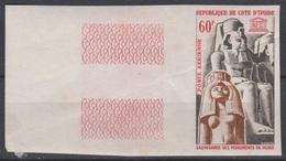 Cote D'Ivoire  Ivory Coast  1964  PA31 Sauvegarde Des Monuments De Nubie UNESCO Imperf  ** MNH - Ivory Coast (1960-...)
