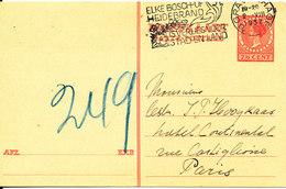 Netherlands Postal Stationery Sent To France 2-8-1937 - Postal Stationery