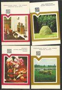 Calendars, 4 Small 1984year, Latvia. UdSSR - Calendars