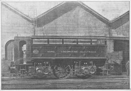 ¤¤   -  Cliché D'une Locomotive Electrique Du NORD  -  Chemin De Fer  - Voir Description -  ¤¤ - Eisenbahnen