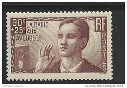 1938 - YVERT N° 418 ** SANS CHARNIERE - COTE = 20 EUR. - - Unused Stamps