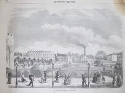 GRAVURE  1857 Le Nouveau Square Du Temple PARIS - Arrondissement: 03