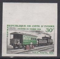 Côte D'Ivoire Ivory Coast  1966  N° 243  Train Postal 1906  Imperf ND MNH - Côte D'Ivoire (1960-...)