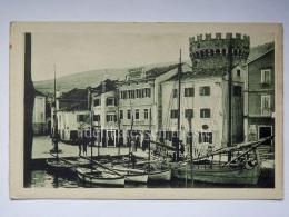 LUSSINO Lošinj Dalmazia Croazia Hrvatska LUSSINGRANDE AK Postcard Barche Pescatori Piazza Porto - Croazia