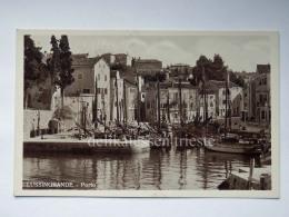 LUSSINO Lošinj Dalmazia Croazia Hrvatska LUSSINGRANDE AK Postcard Barche Porto - Croazia