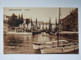 LUSSINO Lošinj Dalmazia Croazia Hrvatska LUSSINGRANDE AK Postcard Cartolina Veduta Porto Barche Boat - Croazia