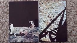 CPSM LA CONQUETE DE LA LUNE PAR APOLLO XI JUILLET 1969 BASE TRANQUILLITE PREMIERS PAS HUMAINS SUR SOL LUNAIRE 7 - Astronomia