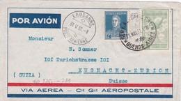 ARGENTINE 1932 PLI AERIEN DE BUENOS AIRES POUR LA SUISSE - Argentina