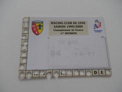FOOTBALL - RCL - LENS - CARTE ABONNEMENT 1999 2000 - Habillement, Souvenirs & Autres