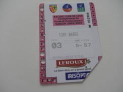 FOOTBALL - RCL - LENS - CARTE ABONNEMENT 2004 2005 - Habillement, Souvenirs & Autres