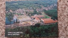 CPM USINE D ALLUMETTES SEITA A SAINTINES OISE VUE AERIENNE - Bâtiments & Architecture