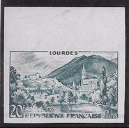 France N°1150 - Lourdes - Essai Non Dentelé - Neuf ** Sans Charnière - Superbe - France