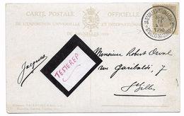 Sterstempel/cachet étoile   * 15 St GILLIS(BRUXELLES) St GILLIS BRUSSEL 15 *   11.12.1910 Op Expo Brux 1910  2 Scans - 1922-1927 Houyoux