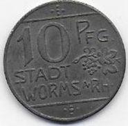 STADT WORMS  1918 - 10 Pf - Monetari/ Di Necessità
