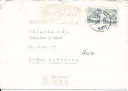 JUG008 -  JUGOSLAVIA - LETTERA RACCOMANDATA DA LJUBLIJANA A ROVERETO - 11.5.1977- N° 2x1538 - CATALOGO UNIFICATO - 1945-1992 Repubblica Socialista Federale Di Jugoslavia