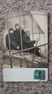 CPA PHOTO MONTAGE AVION AEROPLANE 3 HOMMES GROS PLAN  PHOTO FLEURY ET BALDOMAR BLD POISSONIERE - Fotografie