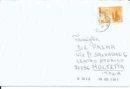 JUG008 -  CROAZIA - LETTERA DA CORCULA A MOLFETTA - 2.3.2010- N° 798 - CATALOGO UNIFICATO - 1945-1992 Repubblica Socialista Federale Di Jugoslavia