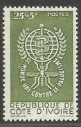 Côte Ivoire 1962 205 ** Paludisme Malaria Moustiques - Côte D'Ivoire (1960-...)
