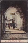Road To The Wailing Wall Jerusalem Israel Judaica Hotel PC - Nr. 86 M. Ordmann Palestine - Jewish