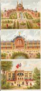 CHROMOS SOUVENIRS EXPOSITION UNIVERSELLE 1878 - PORTE PRINCIPALE - COLONIES ANGLAISES - TROCADERO - Trade Cards