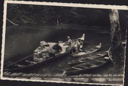 CPSM Intérieur De La Guyane Avec Pirogues Barques Chargées Marchandises Transport Fluvial YT 212 X2 CAD CAYENNE 18 1 185 - Autres