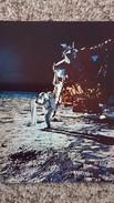 CPSM LA CONQUETE DE LA LUNE PAR APOLLO XI JUILLET 1969 LE LEM SUR BASE TRANQUILLITE ET ALDRIN DEROULANT FEUILLE D ALU 8 - Astronomia